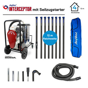 SkyVac Interceptor High-End-Set zur Dachrinnenreinigung...